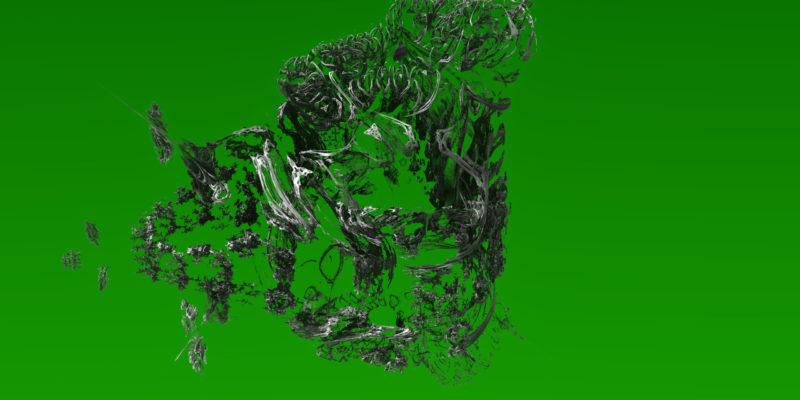 3D green dream Art Print