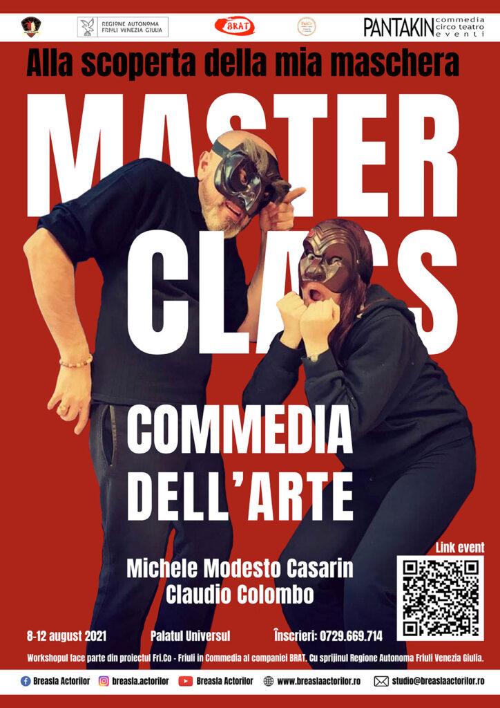 COMMEDIA DELL'ARTE MASTERCLASS with Michele Modesto Casarin and Claudio Colombo